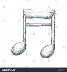 music note draw stock vector 659306485 shutterstock