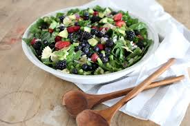 springtime spinach and pasta salad with creamy citrus dressing a