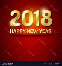 electronic new year cards happy new year 2018 greetings card royalty free vector image