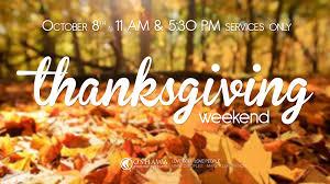 thanksgiving weekend oshawa community church