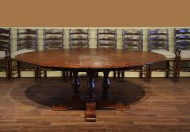 round rustic pedestal table dark finish eclectic dining room full