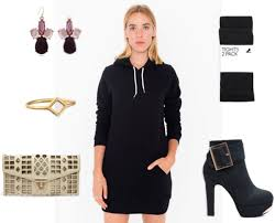class to night out hoodie dress college fashion