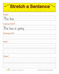 sentence starters worksheet education com