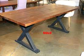 rustic metal and wood dining table modern metal dining table cad75 com