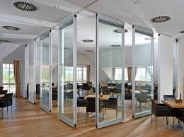 glass room divider for interior designs and furniture of