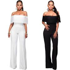 black and white jumpsuit for 2018 sale womens jumpsuit black white lace shouder