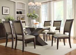 Glass Dining Table Set 8 Chairs Homelegance Bering Dining Set D2468 72 597d 4s