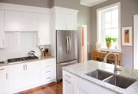White Cabinets With Grey Quartz Countertops Gray Wall White Cabinet Houzz