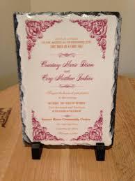 Personalized Wedding Plaque Personalized Wedding Invitation Keepsake Slate Plaque Your