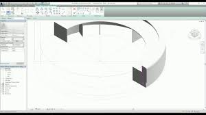Circle Reception Desk by Generic Model In Revit Part 4 Swept Blend Youtube