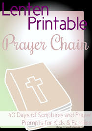 free 40 day prayer chain printable scripture and prayer prompts