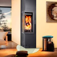 wood burning fireplace insert multi fuel corner frankfurt