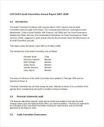 committee report template annual report templates word 7 free pdf documents