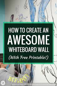 how to create an awesome whiteboard wall renovated learning