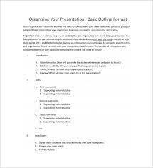 basic outlines presentation outline template word outline presentation template
