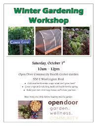 free winter gardening workshop crescent city del norte county