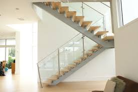 Modern Stairs Design Indoor Glass And Metal Stairs