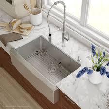 Single Tub Kitchen Sink Kraus 33 Inch Farmhouse Single Bowl Stainless Steel Kitchen Sink