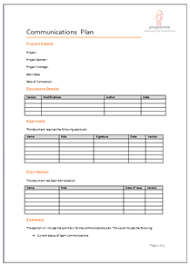 programme project tools project planning document templates