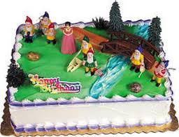 snow white u0026 7 dwarfs cake kit topper dwarves set ebay