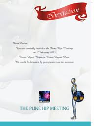 Meeting Invitation Card The Pune Hip Meeting Indian Orthopaedic Research Group