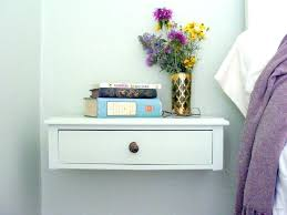 Floating Nightstand Shelf Wall Mount Shelf With Drawer Wooden Retro Wall Floating Shelf Wall
