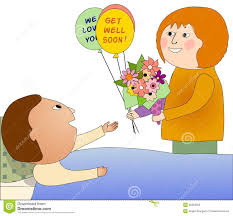greeting card for sick person visiting a sick person stock photo image 35983320