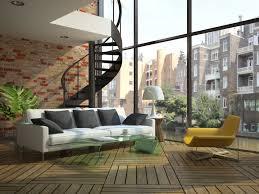 Loft Modern Modern Loft Windows Stairs Sofa Hd Wallpaper