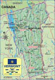 United States Map Mountains by Map Of Vermont United States Of America Usa Map In The Atlas