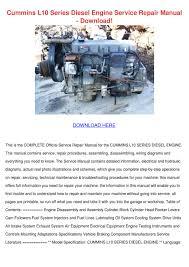 cummins l10 series diesel engine service repa by krystaljameson