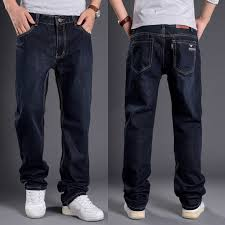 mens denim black pants casual jeans jeans slim straight legged