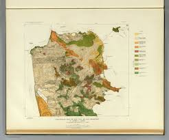 Map Of San Francisco by Geological Map San Francisco David Rumsey Historical Map Collection