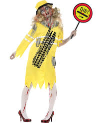Lollipop Lady Zombie Halloween Fancy Dress Ladies Uniform Costume