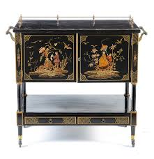 Lacquer Bar Cabinet with Mid Century Black Lacquer Chinoiserie Bar Cabinet Ebth