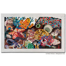 coral reef great barrier reef paper collage art dolan geiman