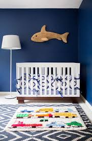 stylish baby boy nursery transitional with truck rug sheepskin