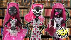 monster high halloween dolls monster high geek shriek catty noir doll review and comparison