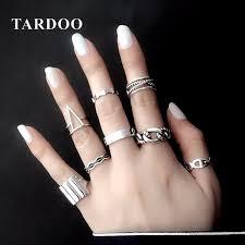 silver rings set images Tardoo mashup ring real 925 sterling silver trendy geometric rings jpg