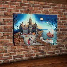 canvas halloween art prints ebay