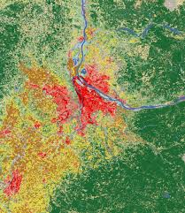 Map Of Portland Landsat Shows Land Use Around Portland Image Of The Day
