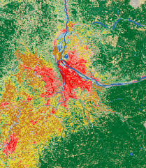 City Of Portland Maps by Landsat Shows Land Use Around Portland Image Of The Day