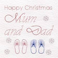 pinbroidery happy christmas mum mom dad square pinb