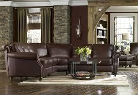 Leather Sectional Sofa Traditional Natuzzi Editions A297 Traditional Leather Loveseat With Wood Feet