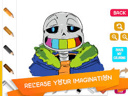 coloring sans undertale android apps google play
