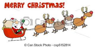 santa sleigh and reindeer santa sleigh and reindeer merry christmas greeting a eps
