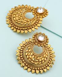 chandbali earrings buy chandbali designer earrings online india voylla