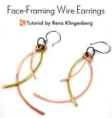 wire earrings framing wire earrings tutorial jewelry journal