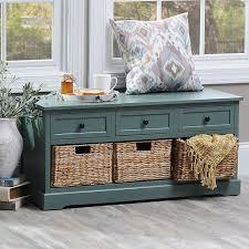 baskets for storage bench storage decorations