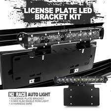 rear race light bar universal license plate front or rear mount super slim light bar kit
