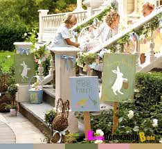 Easter Home Decorations Pinterest by Easy Easter Decorating Ideas Stairs Pottery Barn Better Decorating